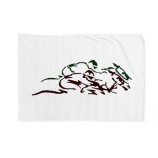 馬1 Blankets