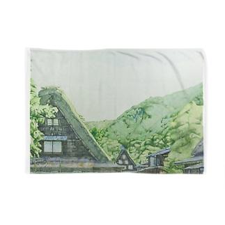 白川郷 Blankets