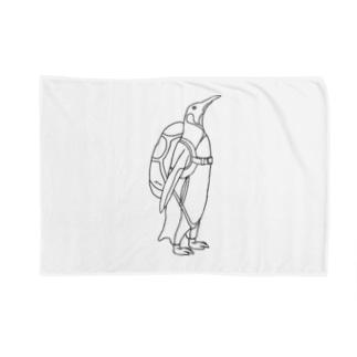 ペンギン スカイダイビング Blankets