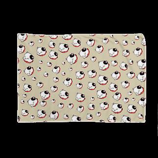 ワネコのブチワネコ(ベージュ) Blankets