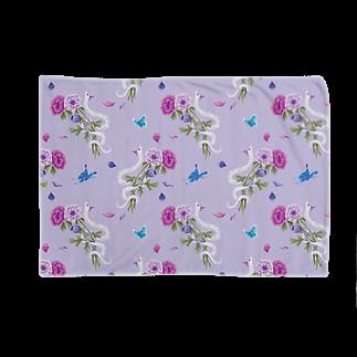 Fanfleecyのanemone(lavender) Blankets