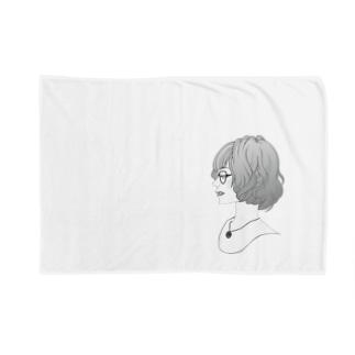 眼鏡女子 Blankets