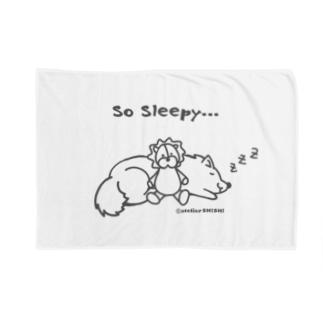 So Sleepy 眠たいワンコ Blankets