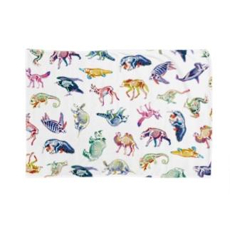 どうぶつのホネ[pattern-A] Blankets