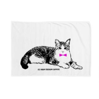ネクタイ猫ちゃん Blankets