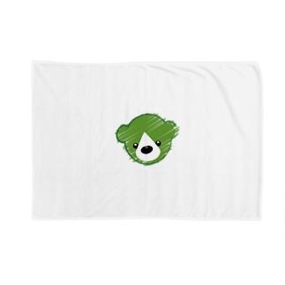 くまさんロゴマーク Blankets