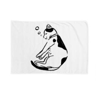 I love sleeping!両手をのびーっと伸ばすにゃんこ Blankets