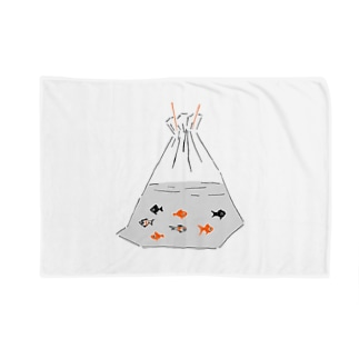 祭りデザイン「金魚すくい」 Blankets