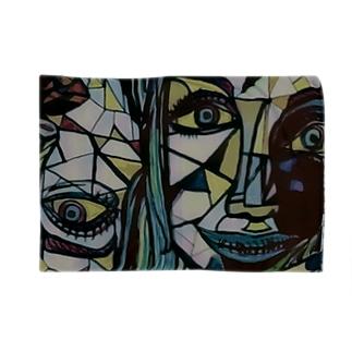 ステンドガラス風女の子オリジナル Blankets