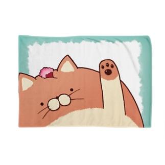 にゃんぱん屋さんのにゃんぱん(肉球ぺた) Blankets