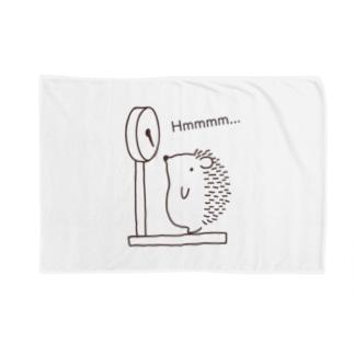 ハリネズミの体重測定 Blankets