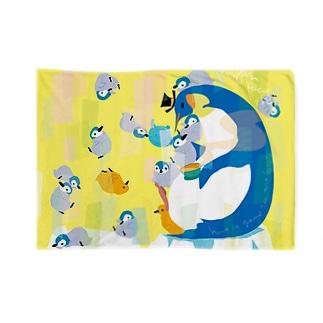 親子ペンギンTeaParty Blankets