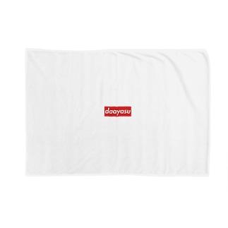 daayasu赤白ロゴ Blankets