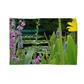 モネの庭 船 Blankets
