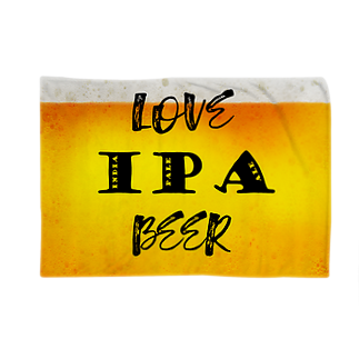 8garage SUZURI SHOPのlove IPA beer ver2 ブランケット