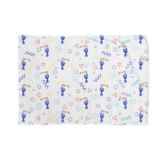 トロピカルバード(white) Blankets