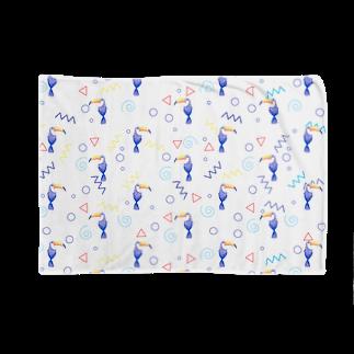 Fanfleecyのトロピカルバード(white) Blankets