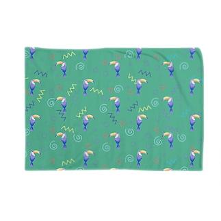 トロピカルバード(green) Blankets