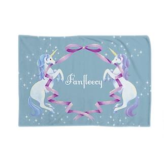 unicorn(blue) Blankets