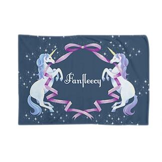 unicorn(navy) Blankets