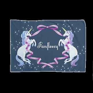 Fanfleecyのunicorn(navy) Blankets