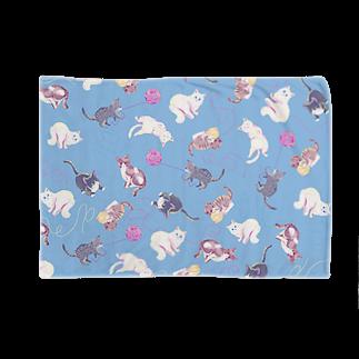 Fanfleecyのmeow meow(blue) Blankets