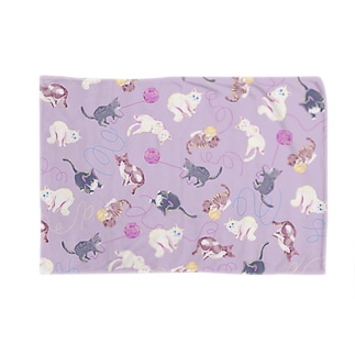 meow meow(purple) Blankets