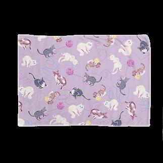 Fanfleecyのmeow meow(purple) Blankets