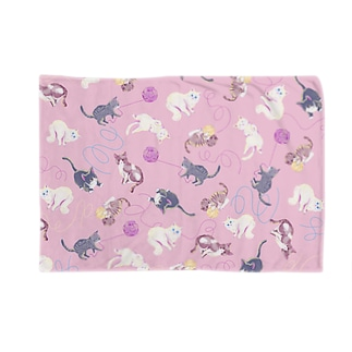 meow meow(pink) Blankets