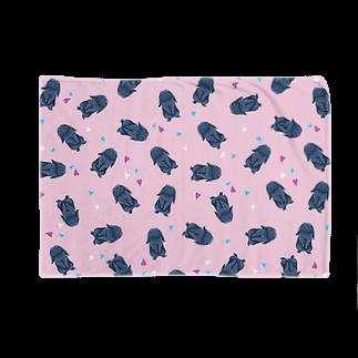 Fanfleecyのホーランドロップ(ブラック) Blankets
