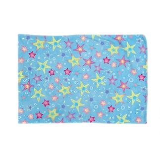 ヒトデぎっしり柄(blue) Blankets