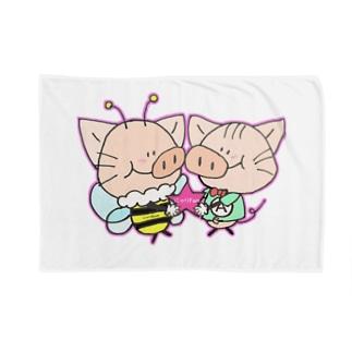 にゃりぶぅ仲良し Blankets