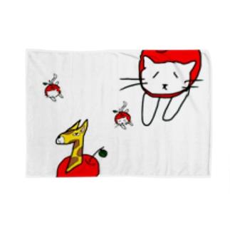 りんご猫&キリンゴ Blankets