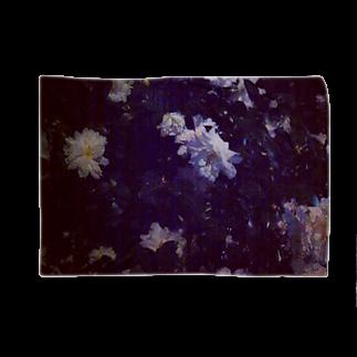 🐄の店の白い花 Blankets