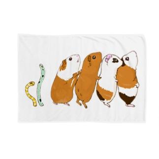 チンアナゴとチンアナゴモルモット Blankets