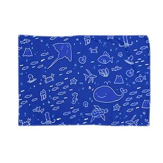 うみのいきもの・青 Blankets