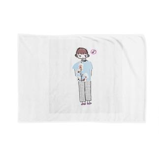 ミニ丸さくら君 Blankets