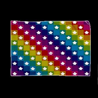 株式会社マニュアルプロダクションの星野さん ダークマルチカラー Blankets