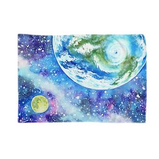 地球と月のブランケット Blankets
