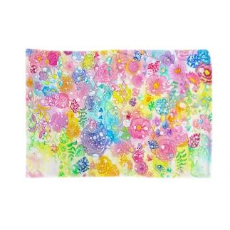 宝石と花のブランケット Blankets