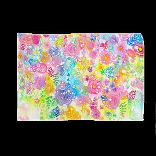 Coffret à bijouxの宝石と花のブランケット Blankets