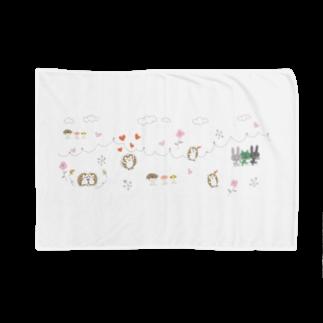 ひらりーー の森の動物たち Blankets