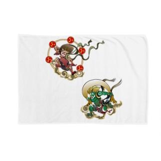 Fujin Raijin Blankets