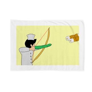 竹輪をきゅうりで射抜くブランケット Blankets