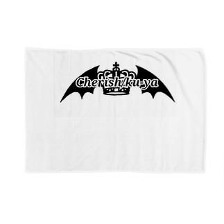Cherish/ku-ya ロゴ Blankets