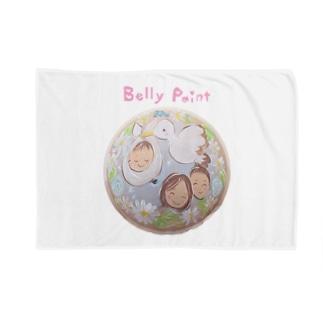 コウノトリと赤ちゃん Blankets