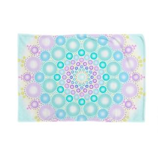 pastel  dot mandala Blankets