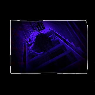 怖がらせ隊ホラーショップのお母さんシカバネ這い降り【青】 Blankets