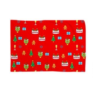 かえるさんのクリスマス(赤) Blankets