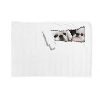中のペキ&狆 Blankets